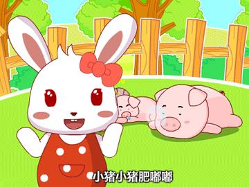 胖小猪的简笔画