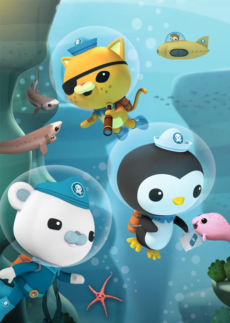 《海底小纵队》讲述了八个可爱的小动物组成的海底