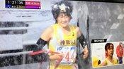 日本暴风雪中女子接力赛