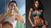 菲律宾最美女模特练拳击