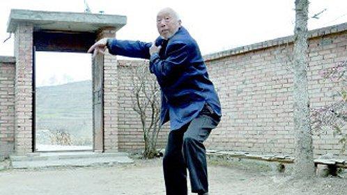 93岁农村老汉秀拳术
