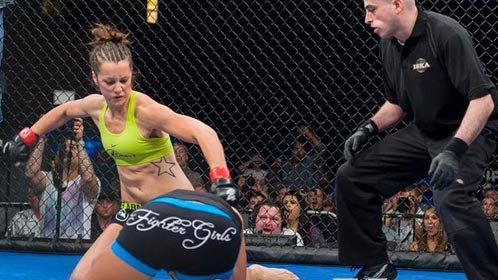 女子悍将3秒一拳KO对手