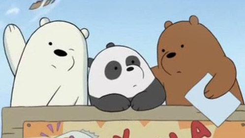 三只裸熊高清壁纸
