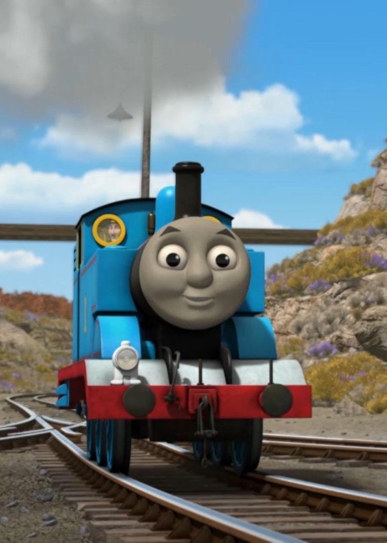 一辆可爱的火车头