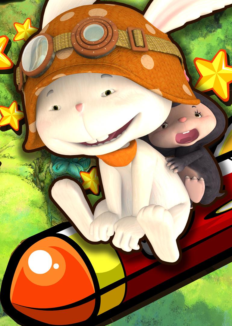 彩泥手工制作动物小兔
