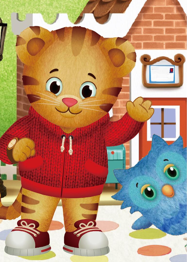 这部学龄前动画的主人公是丹尼尔,一只害羞但勇敢的4岁小老虎,居住在图片