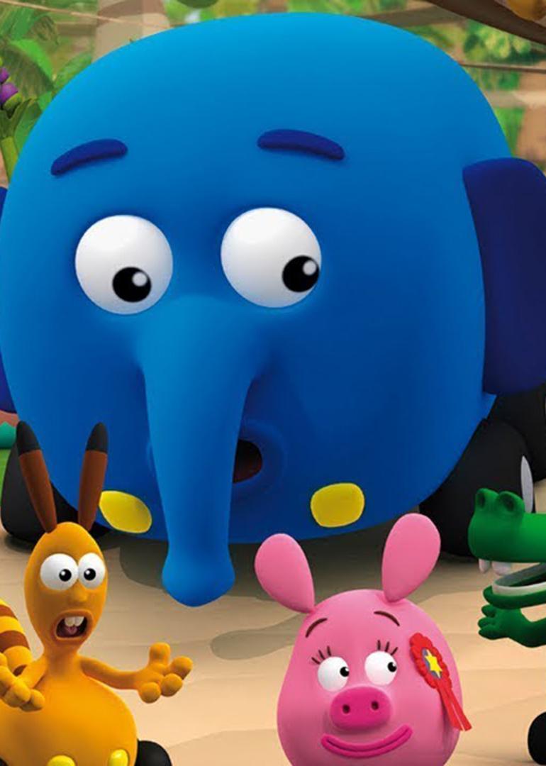 片中可爱的动物汽车,教导小朋友待人接物及团队精神的重要.
