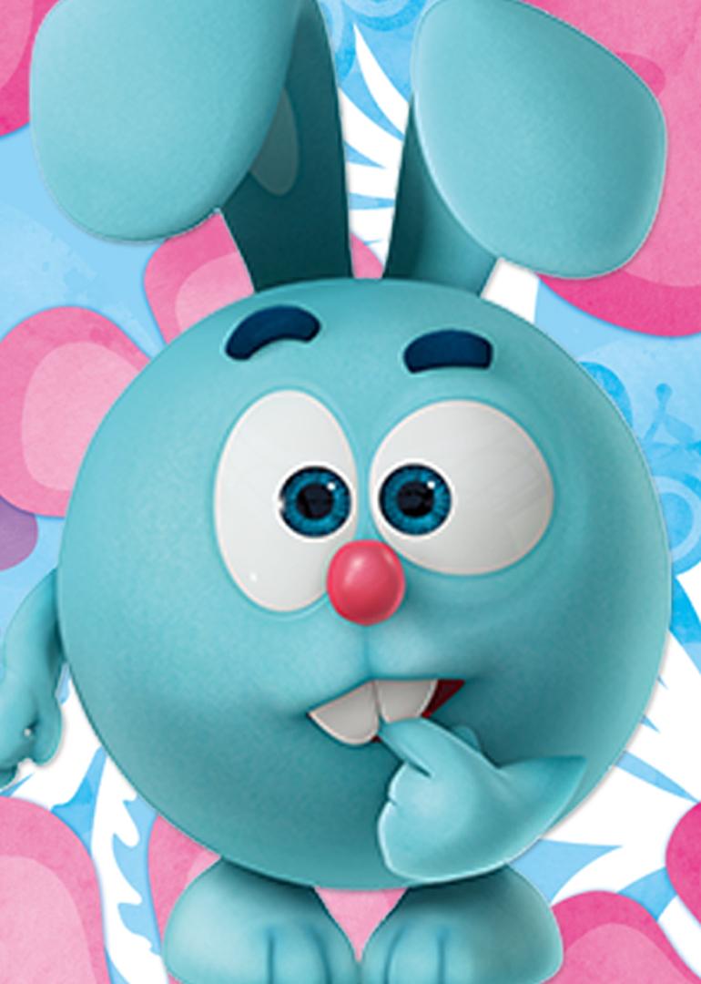《开心球》一共有十个可爱的卡通人物形象.