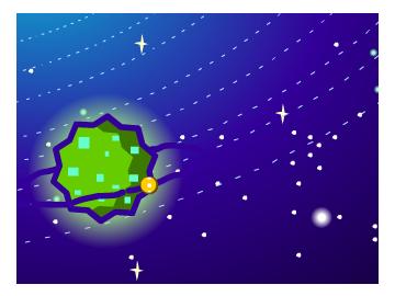 披萨星球矢量图
