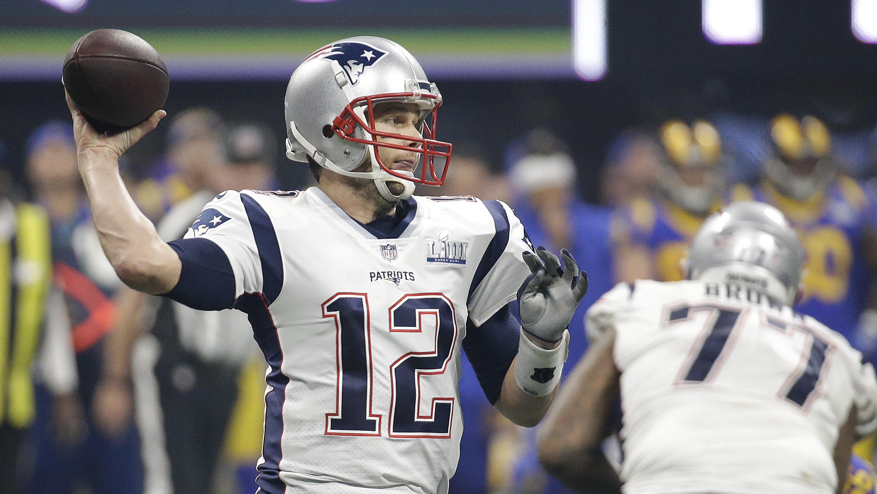 【原声回放】NFL第53届超级碗:爱国者vs公羊第4节 布雷迪神来之笔勇夺第6冠_NFL全场回放