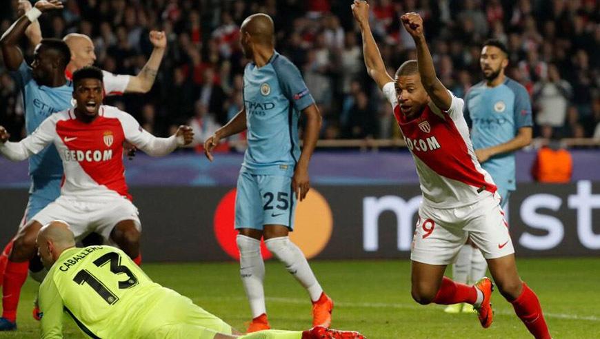 全场回放:欧冠1/8决赛次回合 摩纳哥vs曼城 上半场_曼城
