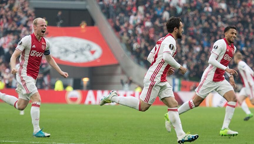 全场回放:欧联杯半决赛首回合 阿贾克斯vs里昂 上半场_欧联杯