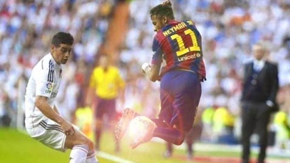 过人还得看梅西!足球场上被梅西晃倒的超级巨星