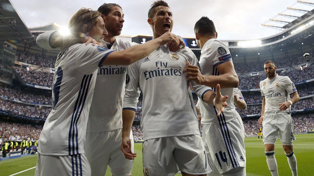 【半场】皇马1-0领先马竞 C罗头球破门铁卫伤退_皇家马德里
