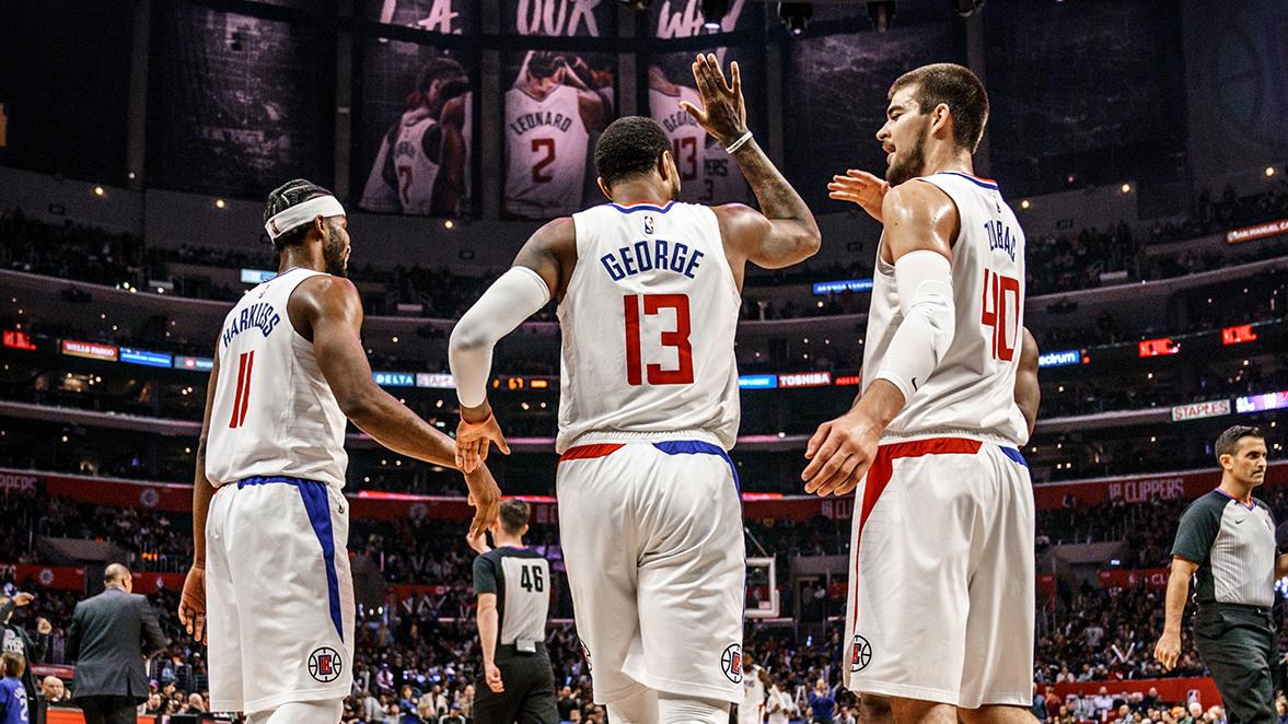 【原声回放】马刺vs快船第3节 乔治滞空拉杆失衡打进超神2+1_NBA全场回放