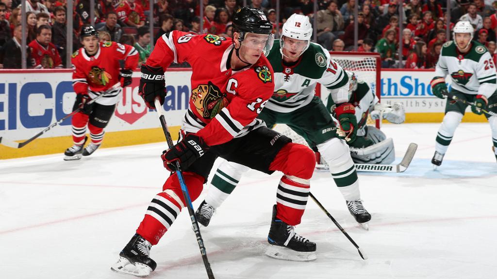 【进球】黑鹰队凯恩梅开二度 进攻组效率值超高_NHL比赛集锦