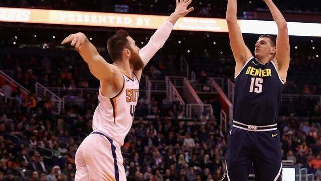 米尔萨普突分约基奇吃饼 萨里奇回一个措手不及同样吃饼打进_NBA全场集锦