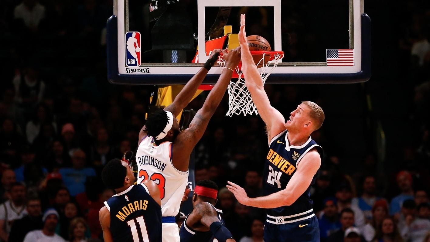 【回放】尼克斯vs掘金第4节 约基奇直杀篮下上篮打进锁定胜局_NBA全场回放