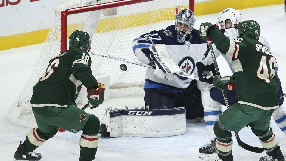 【进球】前仆后继 蓝衣队连续强攻斯特兰德梅开二度打开僵局_NHL比赛集锦