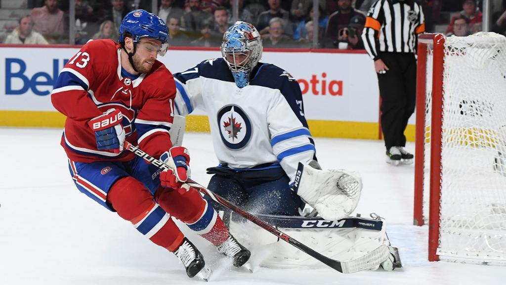 【集锦】加拿大人加洛特梅开二度难救主 喷气机客场3-2险胜_NHL比赛集锦