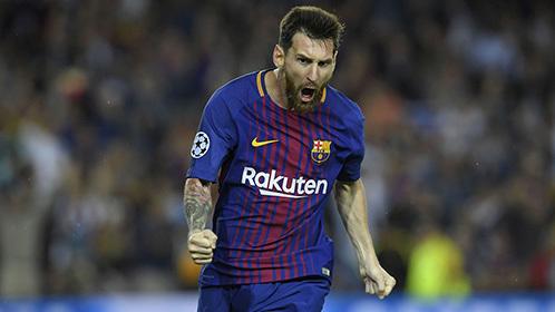【球星】破咒+两球+中柱 今夜梅西无所不能太完美_巴塞罗那