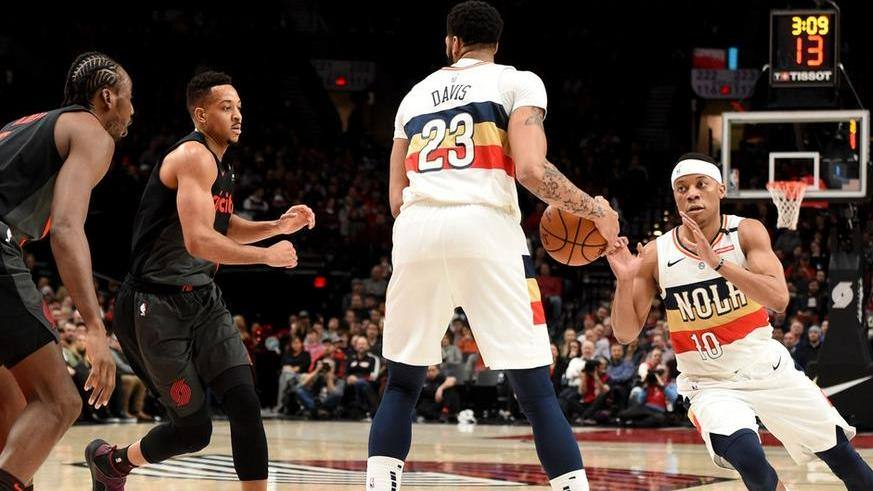 【封盖】就是打你没商量 兰德尔大帽科林斯_NBA全场集锦