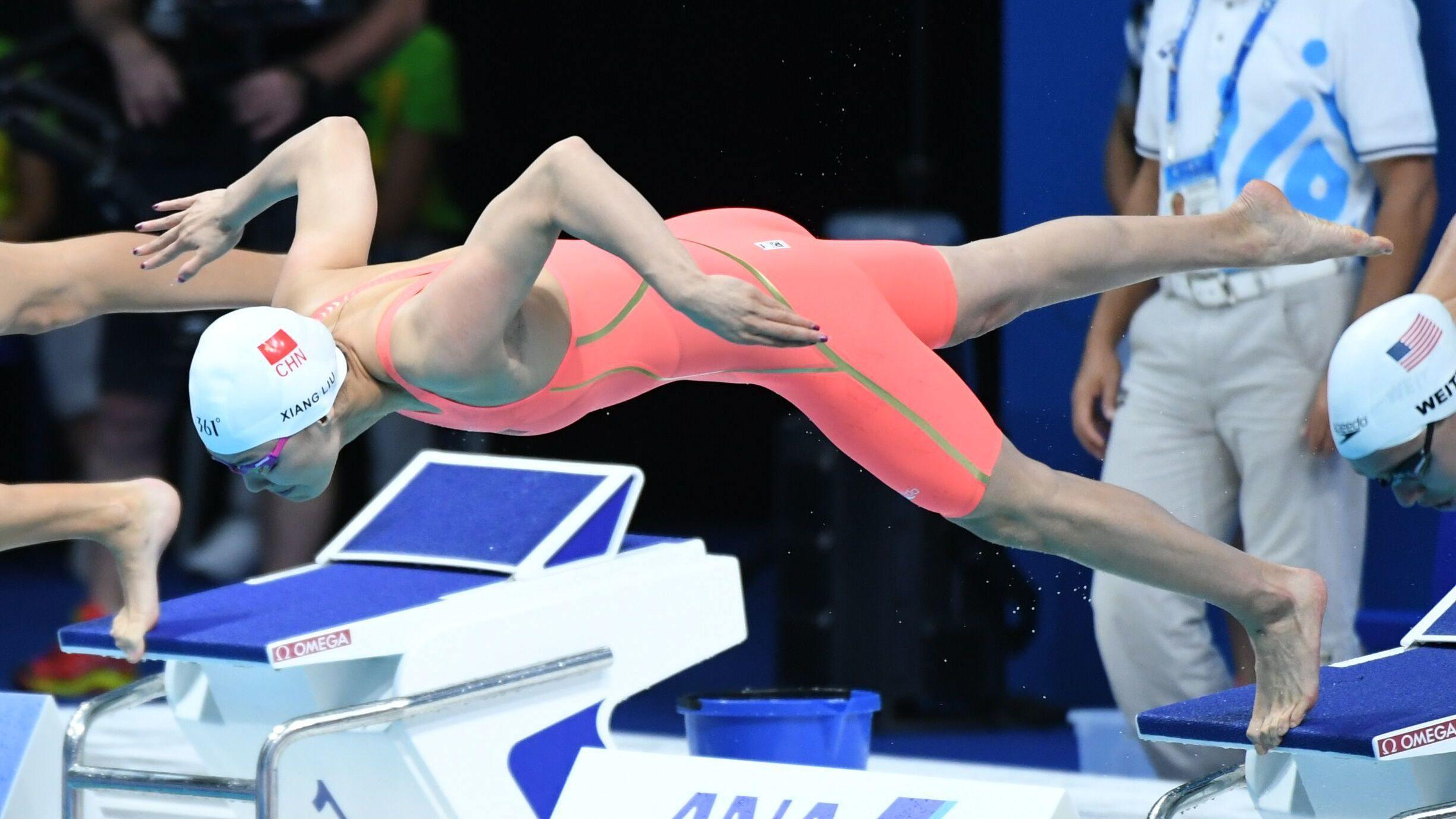 【回放】男子50自决赛 美国名将再度制霸短道泳池_冠军时刻