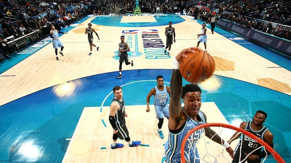16日NBA最佳扣篮 科林斯自抛自扣预热扣篮大赛_TOP时刻